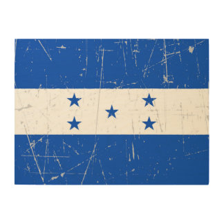 Scuffed and Scratched Honduras Flag Wood Wall Decor