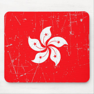 Scuffed and Scratched Hong Kong Flag Mouse Pad
