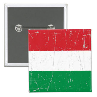 Scuffed and Scratched Hungarian Flag Pins