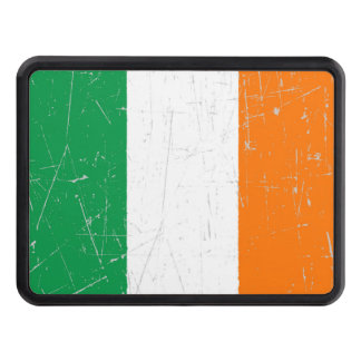 Scuffed and Scratched Irish Flag Trailer Hitch Cover