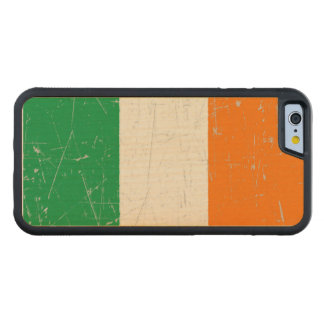 Scuffed and Scratched Irish Flag Carved® Maple iPhone 6 Bumper Case