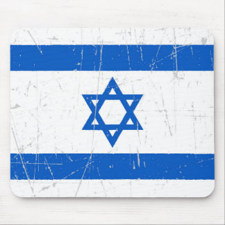 Scuffed and Scratched Israeli Flag Mouse Pad