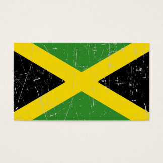 Scuffed and Scratched Jamaican Flag Business Card