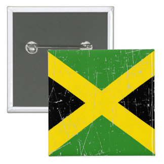 Scuffed and Scratched Jamaican Flag Pinback Button