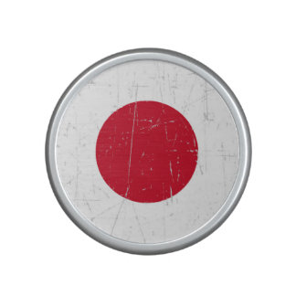 Scuffed and Scratched Japanese Flag Bluetooth Speaker