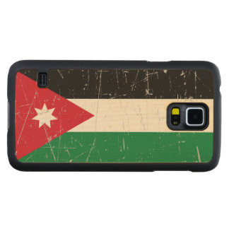 Scuffed and Scratched Jordanian Flag Carved Maple Galaxy S5 Slim Case