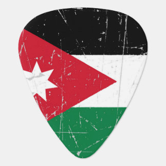Scuffed and Scratched Jordanian Flag Guitar Pick