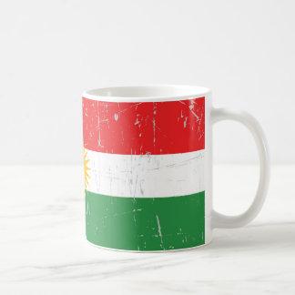 Scuffed and Scratched Kurdish Flag Classic White Coffee Mug