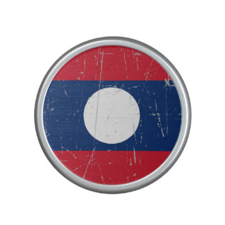Scuffed and Scratched Laos Flag Bluetooth Speaker