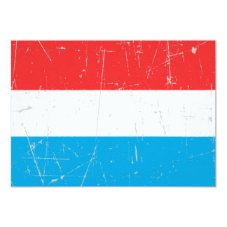 Scuffed and Scratched Luxembourg Flag Card
