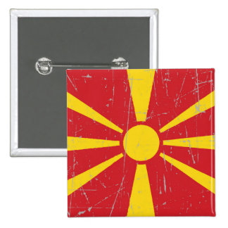 Scuffed and Scratched Macedonian Flag Pins