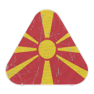 Scuffed and Scratched Macedonian Flag Bluetooth Speaker