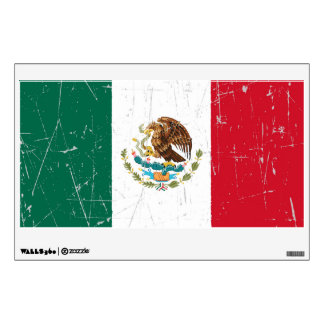 Scuffed and Scratched Mexican Flag Wall Sticker