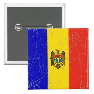 Scuffed and Scratched Moldovan Flag Pin