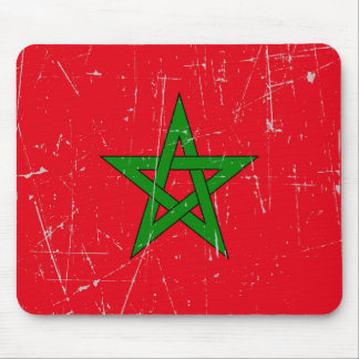 Scuffed and Scratched Morocco Flag Mouse Pad