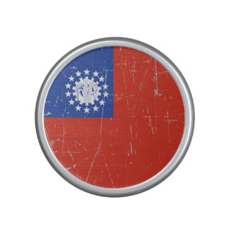 Scuffed and Scratched Myanmar Flag Speaker