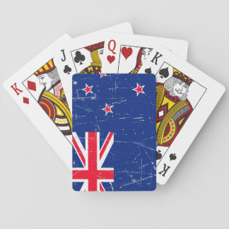 Scuffed and Scratched New Zealand Flag Poker Deck