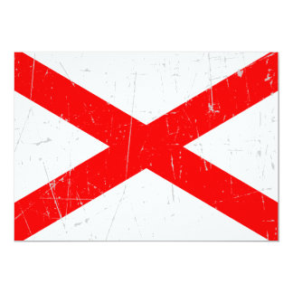 Scuffed and Scratched Northern Ireland Flag 5x7 Paper Invitation Card
