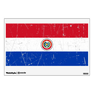 Scuffed and Scratched Paraguay Flag Wall Decal