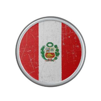 Scuffed and Scratched Peruvian Flag Bluetooth Speaker