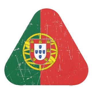 Scuffed and Scratched Portuguese Flag Bluetooth Speaker