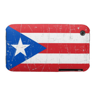 Scuffed and Scratched Puerto Rico Flag iPhone 3 Covers