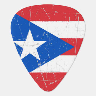 Scuffed and Scratched Puerto Rico Flag Guitar Pick