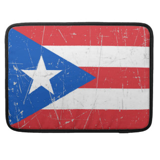 Scuffed and Scratched Puerto Rico Flag MacBook Pro Sleeve