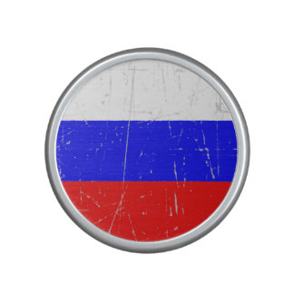 Scuffed and Scratched Russian Flag Speaker