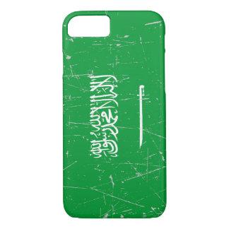 Scuffed and Scratched Saudi Arabian Flag iPhone 7 Case