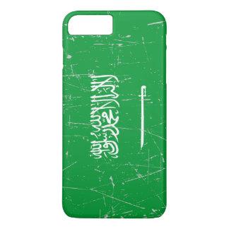 Scuffed and Scratched Saudi Arabian Flag iPhone 7 Plus Case