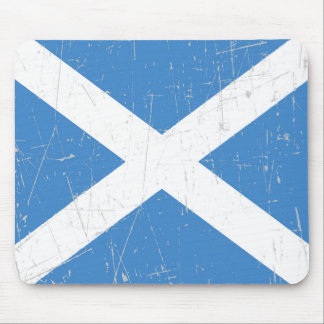 Scuffed and Scratched Scottish Flag Mouse Pad