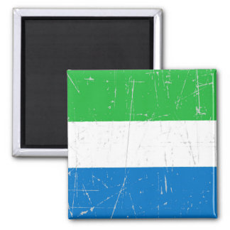 Scuffed and Scratched Sierra Leone Flag Fridge Magnets
