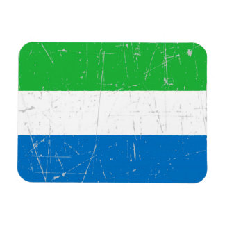 Scuffed and Scratched Sierra Leone Flag Flexible Magnet
