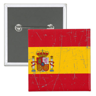 Scuffed and Scratched Spanish Flag Button