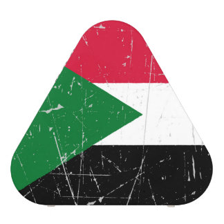 Scuffed and Scratched Sudanese Flag Speaker