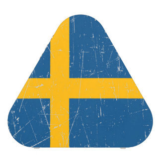 Scuffed and Scratched Swedish Flag Bluetooth Speaker