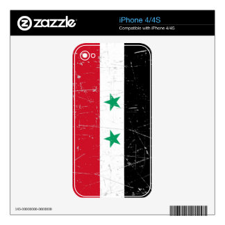 Scuffed and Scratched Syrian Flag Decals For iPhone 4S