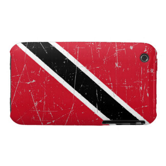 Scuffed and Scratched Trinidad and Tobago Flag iPhone 3 Case