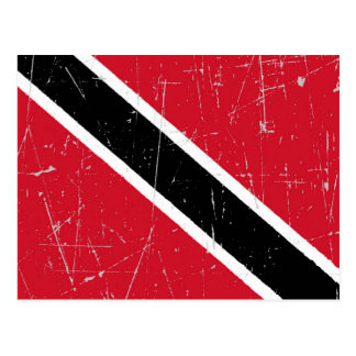 Scuffed and Scratched Trinidad and Tobago Flag Postcard