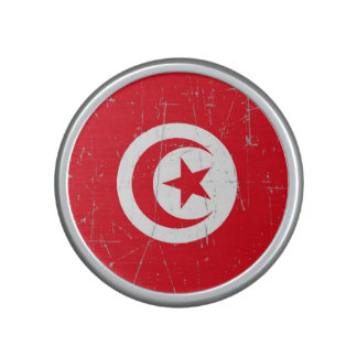 Scuffed and Scratched Tunisian Flag Bluetooth Speaker
