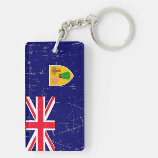 Scuffed and Scratched Turks and Caicos Flag Keychain