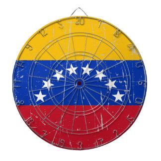 Scuffed and Scratched Venezuelan Flag Dart Boards