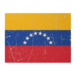 Scuffed and Scratched Venezuelan Flag Wood Wall Art
