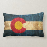 Scuffed and Worn Colorado Flag Pillow