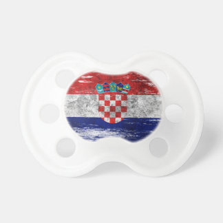 Scuffed and Worn Croatian Flag Pacifier