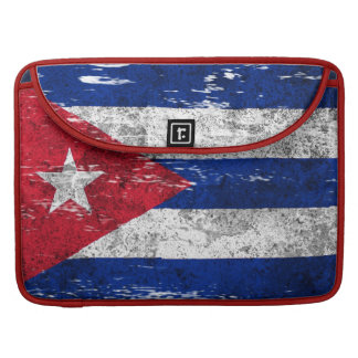 Scuffed and Worn Cuban Flag Sleeve For MacBook Pro