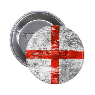 Scuffed and Worn English Flag Pins