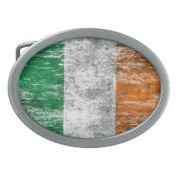 Scuffed and Worn Irish Flag Belt Buckle
