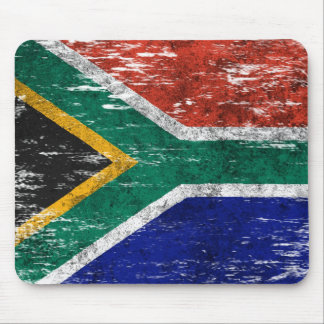 Scuffed and Worn South African Flag Mousepad